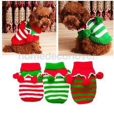 Pet Cat Dog Puppy Christmas Clothes Knitted Sweater Coat Hoodie Costume Apparel
