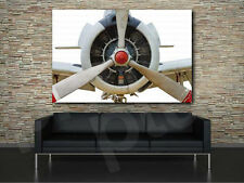 Aircraft White Propeller Art Canvas Poster Print Home Decor