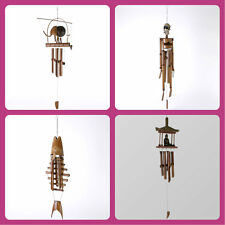 Bamboo wind chime Zen Buddha Elephant Fish Skeleton handmade in Bali fair trade