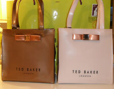 TED BAKER EMBELLISHED 57-ROSE GOLD,59-PALE PINK BOW SMALL SHOPPER BAG