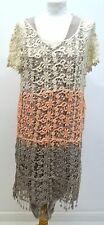lagenlook TotalFashion  quirky artsy knitted overlayering dress/tunic B 40-46""