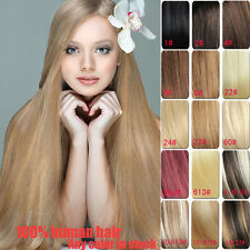Full Head Set Clip In 100% Human Remy Hair Extensions 7PCS 70g 80g 100g 120g