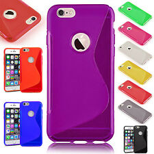 Apple iPhone 6 Plus S-Line TPU Soft Grip Silicone Gel Protective Back Case Cover