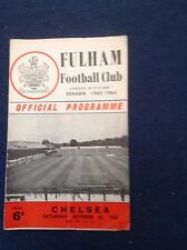 1960's & 1970's  Fulham Football Programmes - Various Fixtures