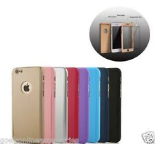 Full Body Protection 360' Hard Case Cover & Tempered Glass For Apple Iphone 5/5s