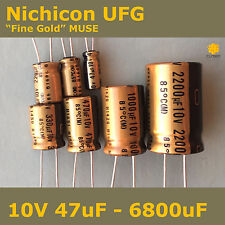 "Nichicon UFG FG ""Fine Gold"" MUSE High Grade for Audio [10V] Capacitors"