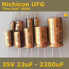 "Nichicon UFG FG ""Fine Gold"" MUSE High Grade for Audio [35V] Capacitors"