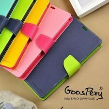 Xiaomi Mi4i Mi 4i Goospery Mercury Diary Wallet Flip Flap Cover Case Tempered