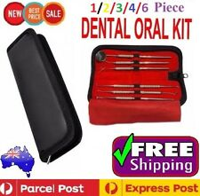 6pc Dental Kit Tooth Scraper Dental Mirror Scaler Tartar Calculus Plaque Remover