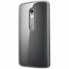 Motorola Moto X Play Ultra thin Soft Silicon TPU Back Case Cover HD Screen Guard