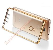 Xiaomi Redmi Note 3 Premium Quality Gold Plating Soft Back Case Cover Gold