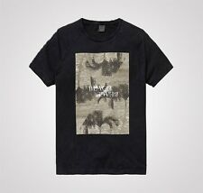 BNWT Mens Scotch And Soda Photo Printed Beach T-Shirt - Charcoal - £39.99