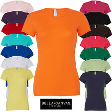 Bella+Canvas Ladies Slim Fit Short Sleeve Crew Neck T-Shirt Women's Casual New