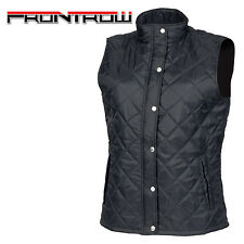 Front Row FR904 Womens Diamond Quilted Padded Zip Up Gilet Jacket Wnters Top