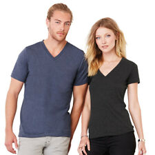 Bella+Canvas CV009 Mens V Neck Jersey T-shirt Short Sleeves Slim Fit Tee, Unisex