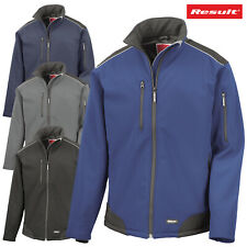 Result SOFTSHELL JACKET WINDPROOF WATERPROOF STRETCH WARM WORKWEAR HIKING R124A