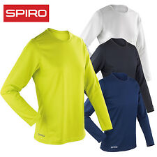 Spiro Women's Quick Dry Long Sleeve Base Layer Bound Neck Sports T-Shirt Top New