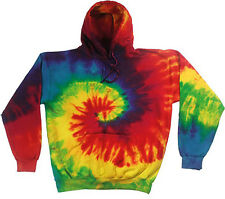 Colortone Unisex Adult Tie-dye Hoodie Retro Party Music Festival Sweatshirt New
