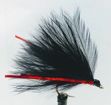 3 x RED HOLO CORMORANT TROUT FLIES/LURES FOR FLY FISHING SIZE 10 OR 12