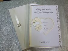 Personalised Boxed Wedding Day Card and/or Gift Voucher Wallet Gift box
