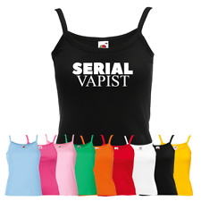 Ladies Serial Vapist Vest - Funny Vape Vaping Smoker Strap Top Gift
