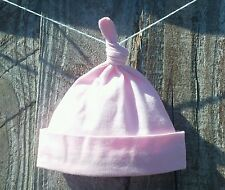Baby girl knot hat Micro Preemie premature newborn and 0-3 months. 100% cotton