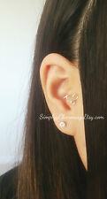 Tiny Heart Infinity Tragus Earring Fake Or Real Ear Cuff Earring Body Jewelry