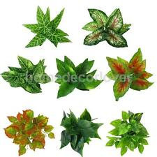 Plastic Foliage Artificial Fake Leaves Grass Foliage Bush Home Party Decor Pick
