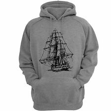 Stylish ( Sailing ) Hooded Sweatshirt | Mens Hoodie | Gray SweatShirts