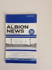 1960's  West Bromwich Albion  Football Programmes - Various Fixtures