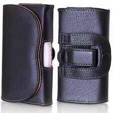 Universal Leather Belt Pouch Horizontal Loop case holder for Samsung 2,3,4,5,6,7