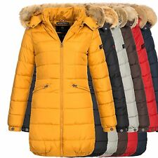 Navahoo PEAKTIME Damen Winter Jacke Steppmantel Parka Mantel Winterjacke warm