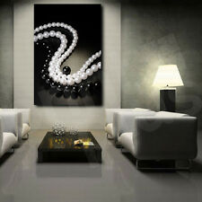 Black and White Pearls Beads Canvas Art Poster Print Home Wall Decor