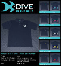 Kinder-Polo-Shirt 'Fish Encounter' by Dive in the Blue – Shirtfarbe: navy
