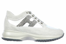 HOGAN SCARPE SNEAKERS DONNA CAMOSCIO NUOVE INTERACTIVE H STRASS ALTRAVERSION 1DD