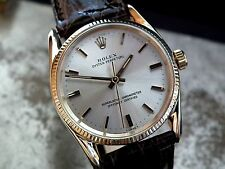 Just Beautiful 1960's Solid 14ct Rolex Oyster Bombe Lug Gents Vintage Watch