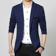 Men Blue Slim fit Partywear Blazer + 1 pocketsquare hanky + 1 Coat cover