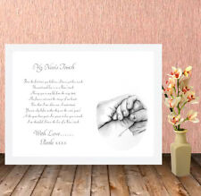 Personalised High Quality Box Frame Print, Nanny, Nan Grandma Mothers Day,Gift