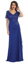 Long Mother of the Bride Dresses Plus Size Formal Evening Gown