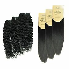 Unprocessed 105g Brazilian PERUVIAN 100% Human Hair Virgin Hair Extension