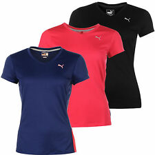 Puma Damen PE Run Laufshirt T-Shirt Logo Shirt Cool Cell Jogging V-Neck NEU S-XL