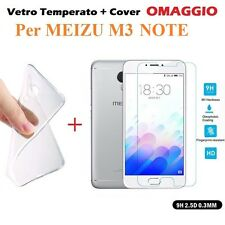 COVER CUSTODIA in TPU + PELLICOLA in VETRO TEMPERATO per MEIZU M3 NOTE