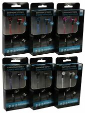 Grundig Stereo Earphones Flat Cable + 2 Extra Pairs of Earbuds Various Colours