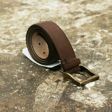 NEW D&G Dolce & Gabbana Brown Belt with Gold Buckle GENUINE RRP: £210 BNWT