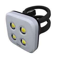 Knog Blinder 4 LED Rear Light Bicycle USB Rechargeable Silver