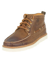Sperry Top-Sider Men's Gold Moc Chukka Hi Leather Boots, Brown