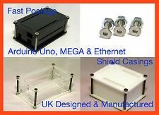 Arduino Case Enclosure Box UNO MEGA R3 Ethernet Shield - clear black white