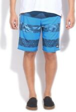 Quiksilver Printed Mens White, Blue, Green Sports Shorts (Flat 50% OFF) - 85C