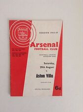 Arsenal  Football Programmes - 1964 to 1965 - Various Fixtures