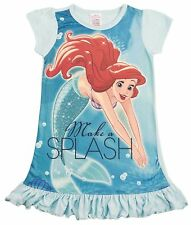 Disney Princess Ariel The Little Mermaid Nightie Nightdress Pjs Girls Kids Size